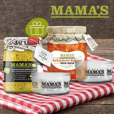 Mamas Food Ajvar und Glas Aktion Promotion